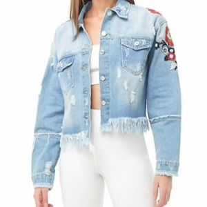 Embroidered Denim Jacket from Forever 21!